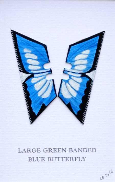 Lene Bladbjerg - Large Green Banded Blue Butterfly